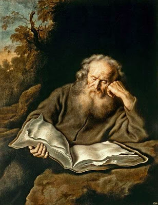 koninck, salomon - reading hermit, 1643