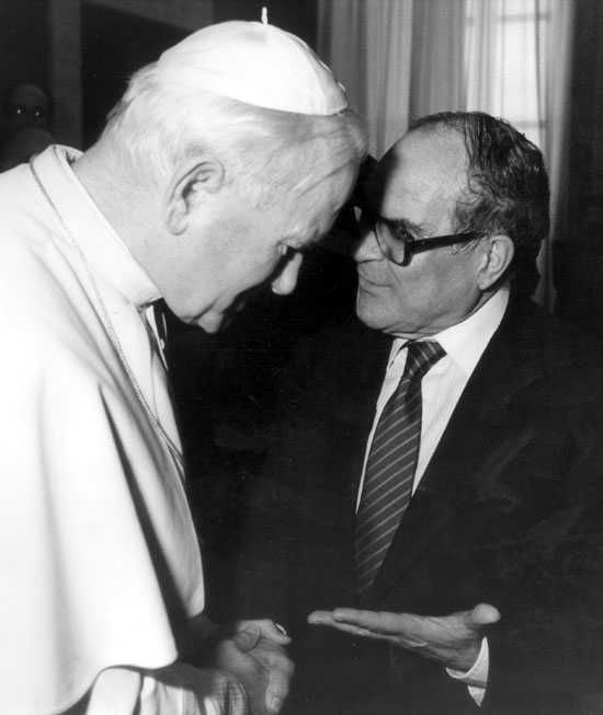 Con Juan Pablo II en Roma.