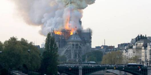 Notre Dame em chamas