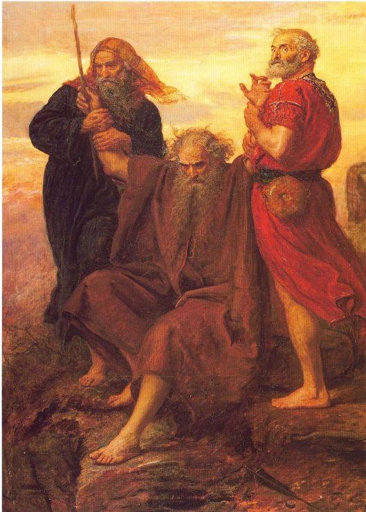 Moisés de braços erguidos