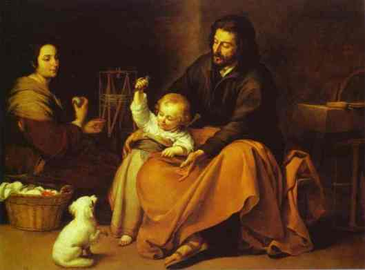 Bartolome Esteban Murillo - The Holy Family with a Little Bird