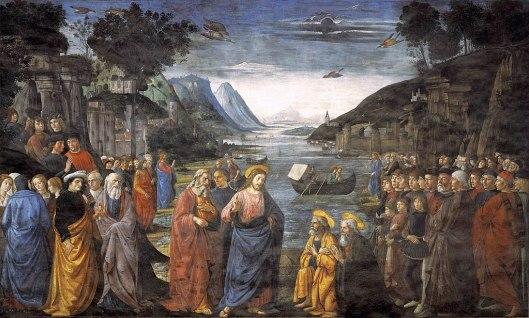 a chamada dos apóstolos Ghirlandaio