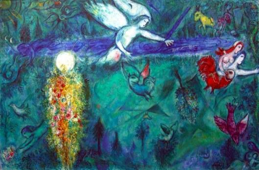 Adão e Eva expulsos do Paraíso - Chagall