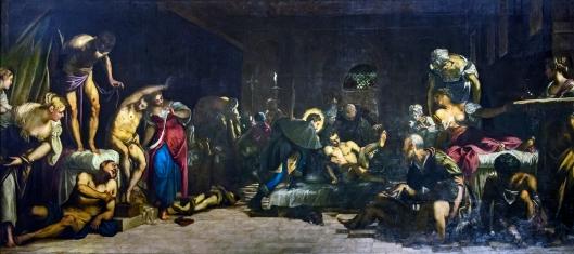 San Rocco Venezia (Interno) - San Rocco risana gli appestati