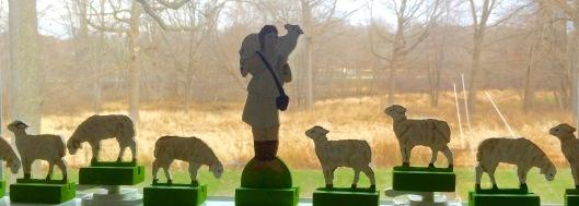 Good Shepherd and Sheep in window